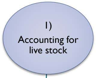 1) Accounting for live stock