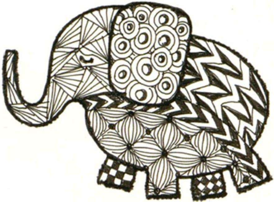 Use Hero Arts Rubber Stamp #CL280 'Elephants' as an outline