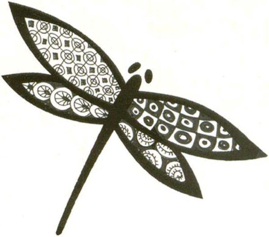 Use JudiKins Rubber Stamp #2742 H 'Fab Dragonfly' as an outline.