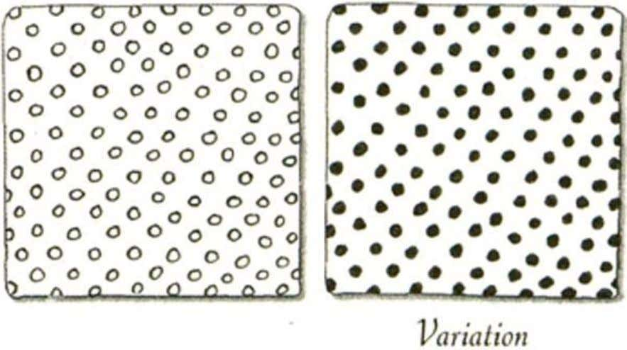 Polka Dots Practice a new tangle pattern every day and draw a new tile design