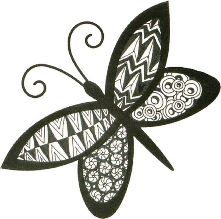 Use JudiKins Rubber Stamp #2741 I 'Carol's Butterfly 1 as an outline.