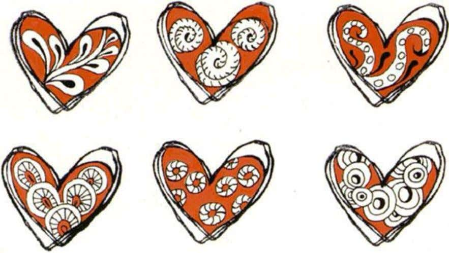 Use Stampabilities Rubber Stamp #C1101 'Scribble Heart' as an outline, use a marker to color