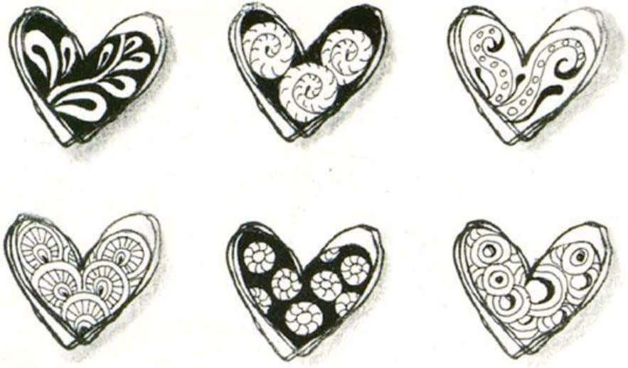 Use Stampabilities Rubber Stamp #C1101 'Scribble Heart' as an outline, use a marker to color the