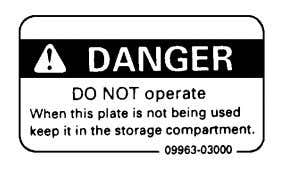 Komatsu distributor. Warning tag part number : 09963-03000 Stopping the engine • Before performing inspections or
