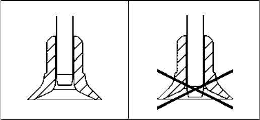 you should avoid the needle to stick out of the lower part. Component pick-up (Fig. A)