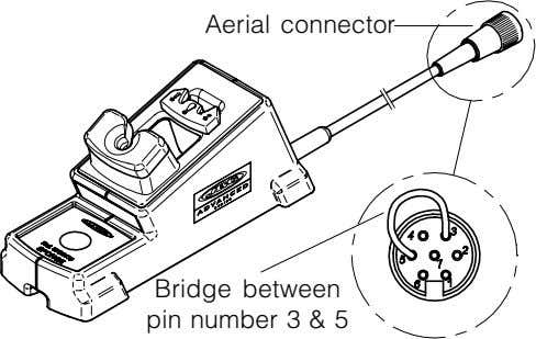 Aerial connector Bridge between pin number 3 & 5