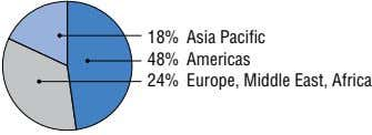 18% Asia Pacific 48% Americas 24% Europe, Middle East, Africa