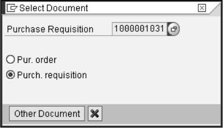 "Requisition. Click the ""Other requisi tion"" icon. Enter the document number you with to view. <Enter>"