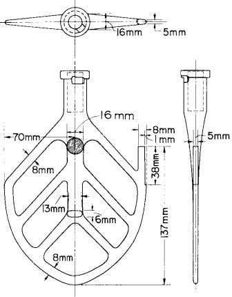 All Dimensions in mm FIG. 1 Clearance Adjustment Bracket FIG. 2 Paddle as specified in the