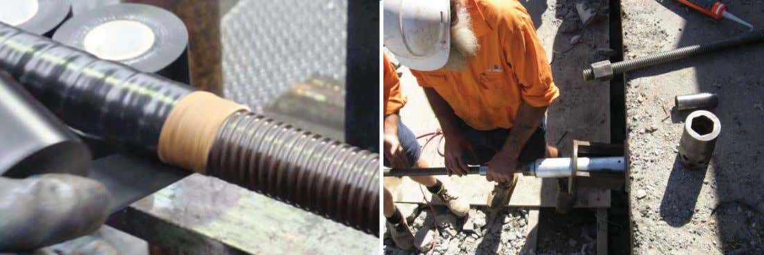 check with your local VSL office regarding availability Coat corrosion protection system Stressing Bar Anchors,