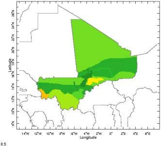 v. vulnerability: Food security and climate change in Mali Impact: of climate (rainfall) on crop production,