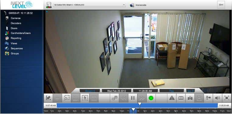 Toolbar for more information on using the video player. The NLSS Web Interface displays these video