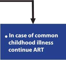  In case of common childhood illness continue ART