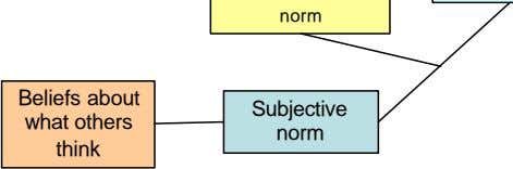 Beliefs about Subjective what others think norm