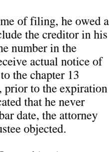 A. Facts: chapter 13 debtor f iled for relief. At the ti me of filing,