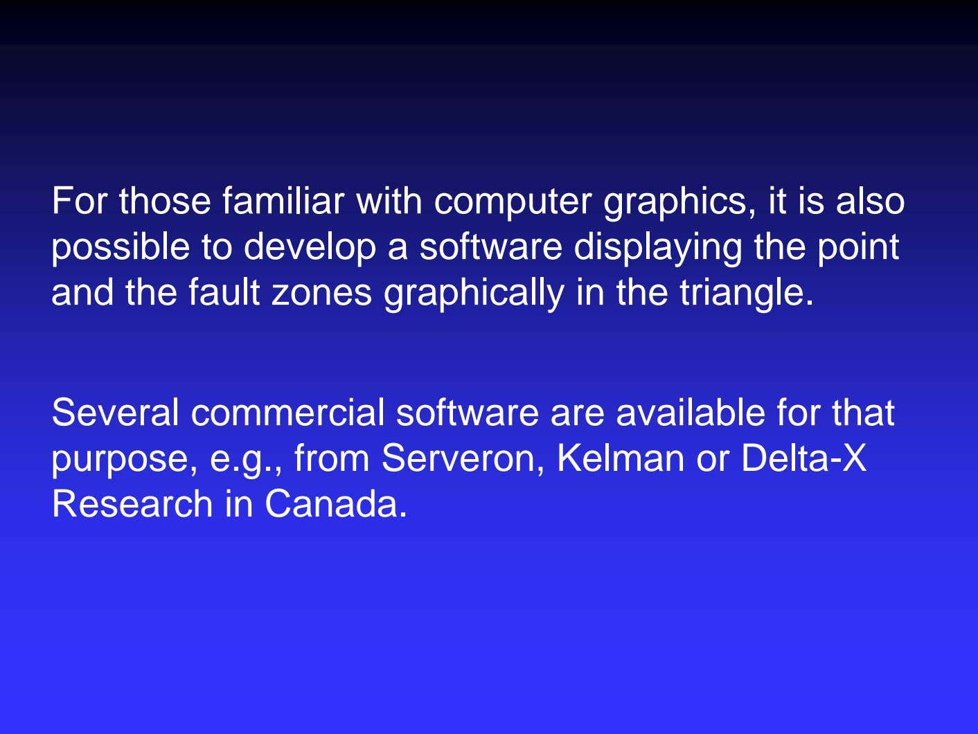 For those familiar with computer graphics, it is also possible to develop a software displaying