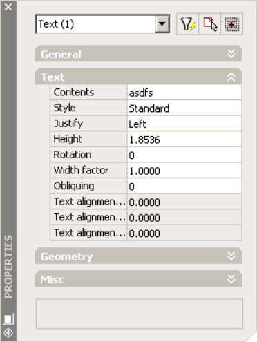 AutoCAD 2004 Preview Guide Figure 14. Properties window with display information saved per object type