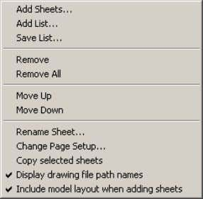 Figure 47. Shortcut menu AutoCAD 2004 Preview Guide -PUBLISH/+PUBLISH Commands The –PUBLISH and +PUBLISH commands