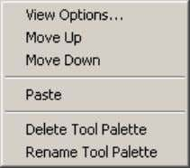 over a tool palette displays different options. Figure 3. Tool palette context menus