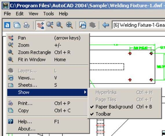 AutoCAD 2004 Preview Guide Figure 51. User interface You can use familiar viewing tools such as