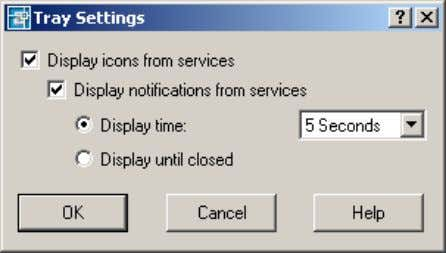 Figure 60. Tray Settings dialog box AutoCAD 2004 Preview Guide The icons indicate various states
