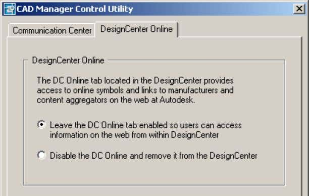 AutoCAD 2004 Preview Guide Figure 66. CAD Manager Control Utility Software Deployment The Network Installation Wizard