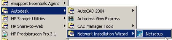 AutoCAD 2004 Preview Guide Figure 68. Accessing the Network Installation Wizard Modify Deployment Images The NIW