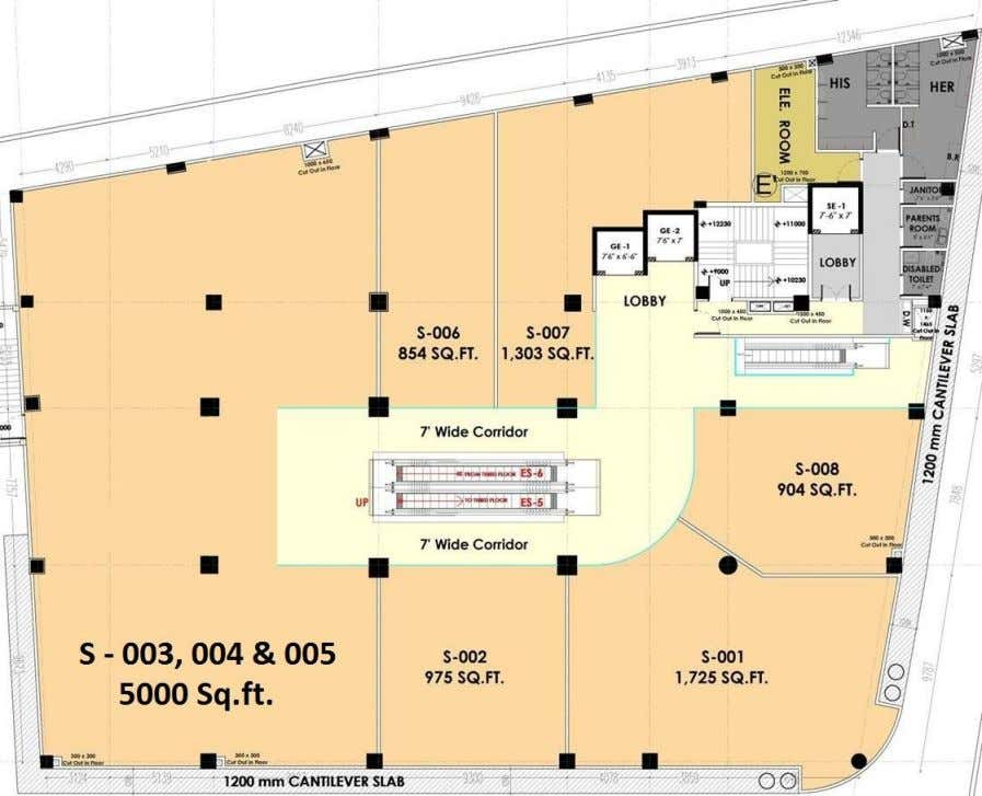 Second Floor Plan www.beyondsquarefeet.com This floor is dedicated for retail brands. We are in discussion with