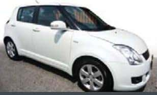 Lock, Standard Seats, ABS, Airbag, CD +MP 3, 47,xxx KM. Suzuki Swift THB 499,000 PRE-OWNED: White,