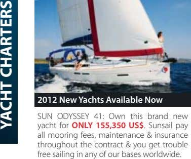 2012 New Yachts Available Now SUN ODYSSEY 41: Own this brand new yacht for ONLY