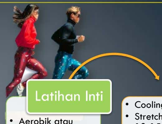 • Stretching statis 10-15 hitungan • Warm up L a t i h a n