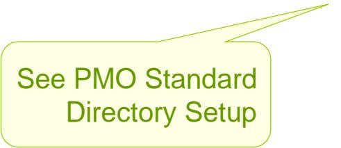 See PMO Standard Directory Setup