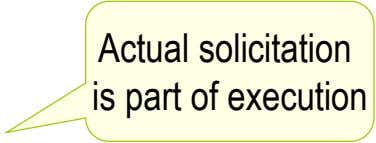 Actual solicitation is part of execution