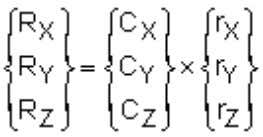 (based on the SED and ROCK command): R is defined by: where: C X , C