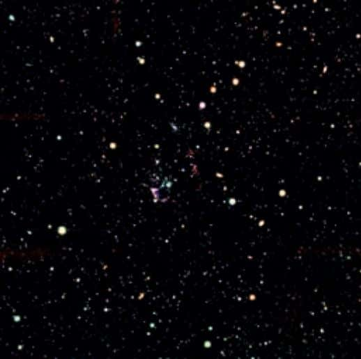 the Spitzer/IRAC beam is relatively large and such associa­ Figure 6. JHKs colour composite of the