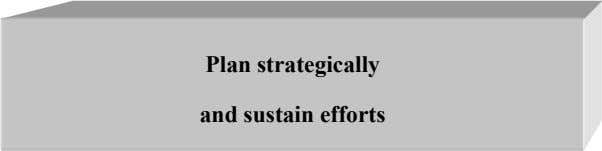 Plan strategically and sustain efforts