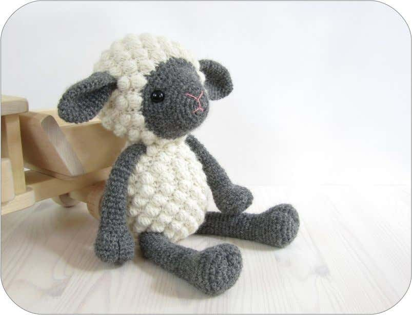 "Sheep Kristi Tullus, http://sidrun.spire.ee Size 32 cm (10 1/2"") tall, with DK weight alpaca wool"