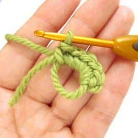 This does not count as the first single crochet stitch. 7. Continue crocheting over the loop