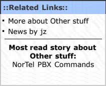 ::Related Links:: · More about Other stuff · News by jz Most read story about