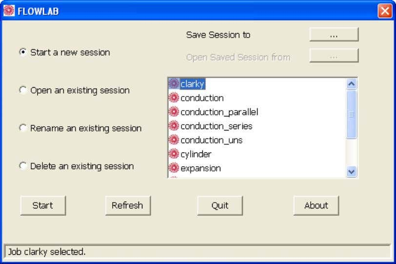 3.2.4. Starting FlowLab Click on the Start FlowLab button will laun ch the program and a