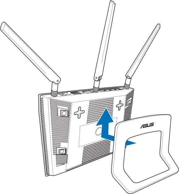 To mount to the stand: • Align and insert the stand's mounting hooks to the wireless