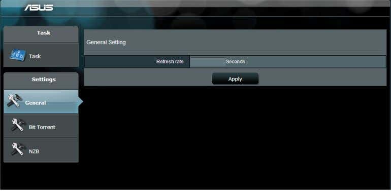 Use the navigation panel to configure the advanced settings. 5.4.1 Configuring Bit Torrent download settings To