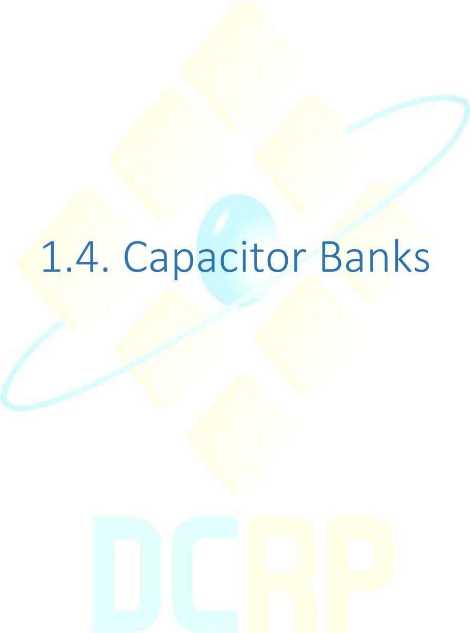 1.4. Capacitor Banks