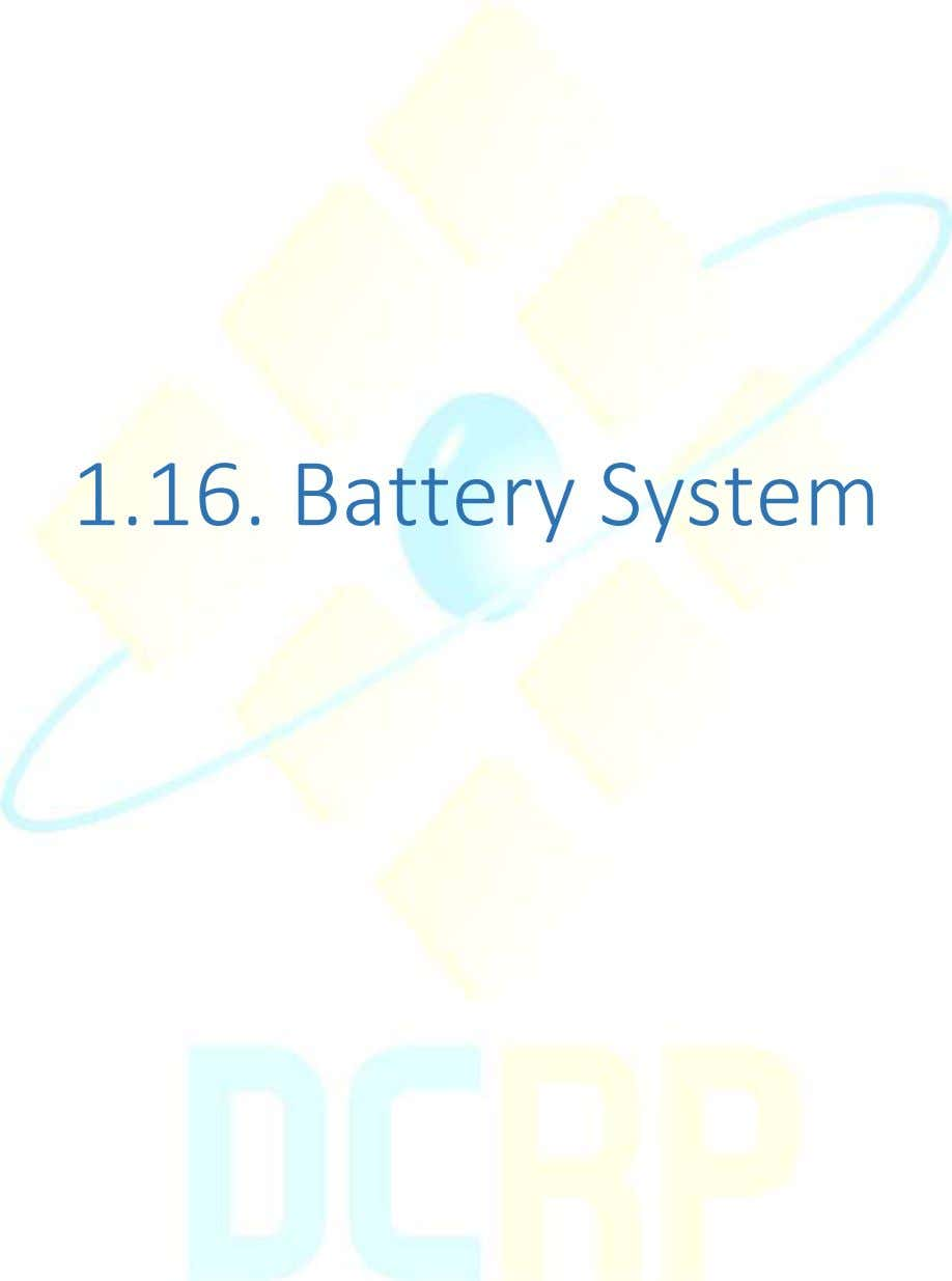 1.16. Battery System