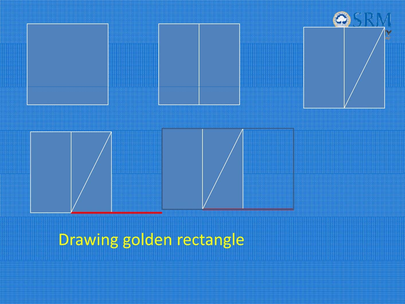 Drawing golden rectangle
