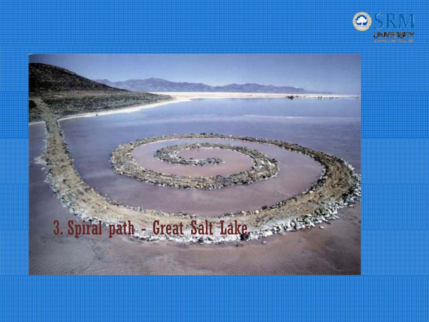 3. Spiral path - Great Salt Lake.