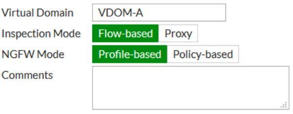 Getting started 41 5. Create a second VDOM, called VDOM-B . Configuring a management interface By
