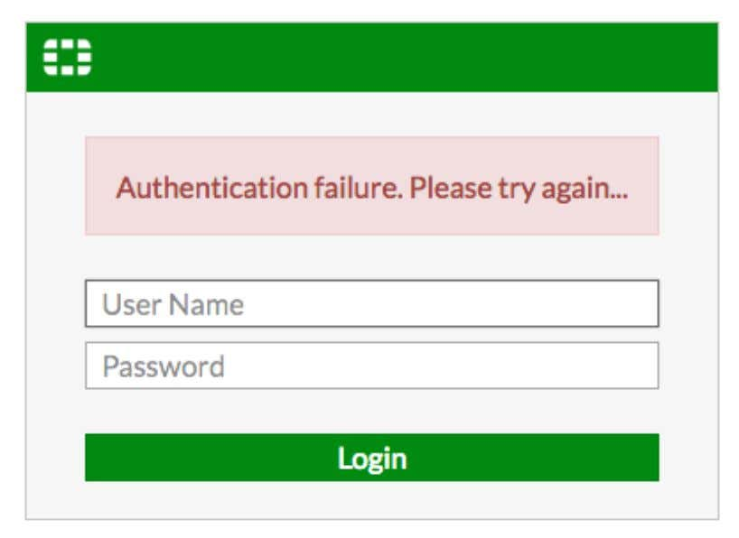 credentials for the default account. Access is denied. 2. Log in using the new credentials for