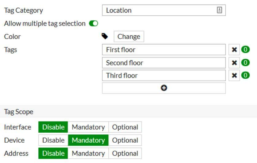 Getting started 80 5. For the department tag, enable Allow multiple tag selection . 6. Add