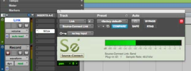 """Source-Connect Link"" into your DAW on an Aux track In Pro Tools, for example , this"
